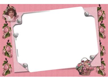 pink transparent frame  angel boarders  frames