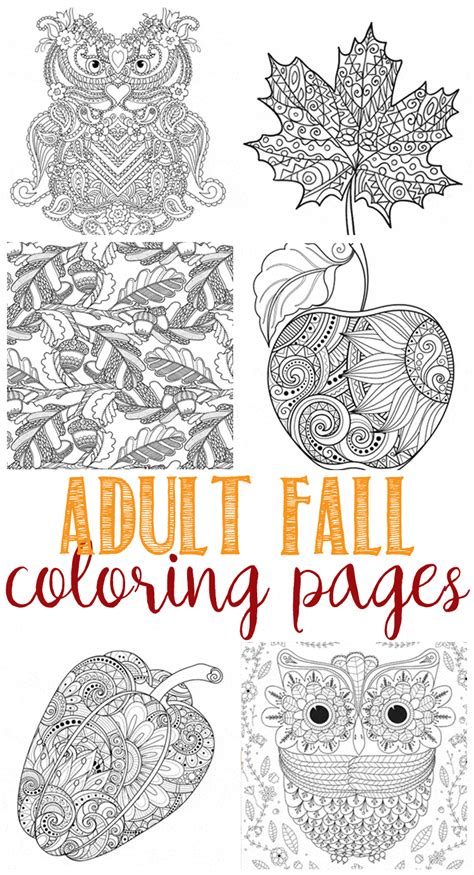 fall coloring pages for adults domestically speaking
