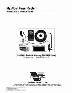 Maxflow Power Cooler Installation Instructions Vortech