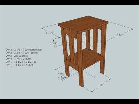 board simple side table   kreg pocket hole jig