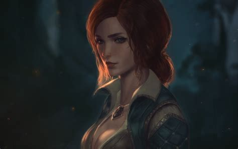 The Witcher 3 Wallpaper 2560x1440 Download 2560x1600 The Witcher 3 Wild Hunter Triss Merigold Redhead Necklace Wallpapers For