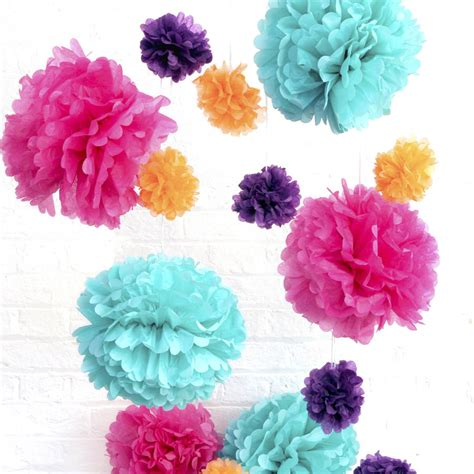 Tissue Paper Pom Poms Party Decoration By Peach Blossom