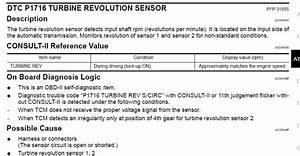 Where Is The Turbine Revolution Sensor Located On A Nissan