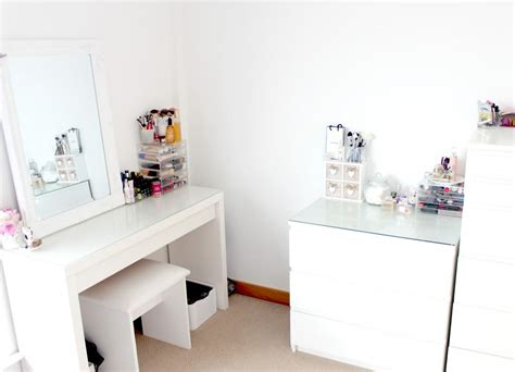 makeup desk ikea uk updated makeup storage ikea malm muji couture