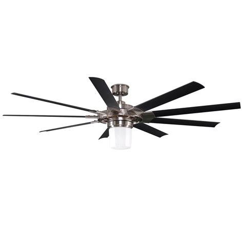 9 blade ceiling fan shop harbor breeze slinger 72 in brushed nickel downrod