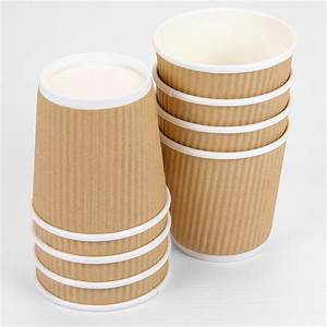 Small 4oz Brown Ripple Paper Cups - Pipii