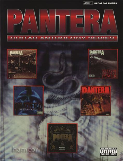 pantera shedding skin bass tab pantera guitar anthology series tab book dimebag