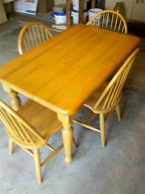 Maple Kitchen Table And Chairs  Marceladickcom