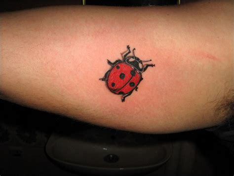 awesome colored ladybug tattoos