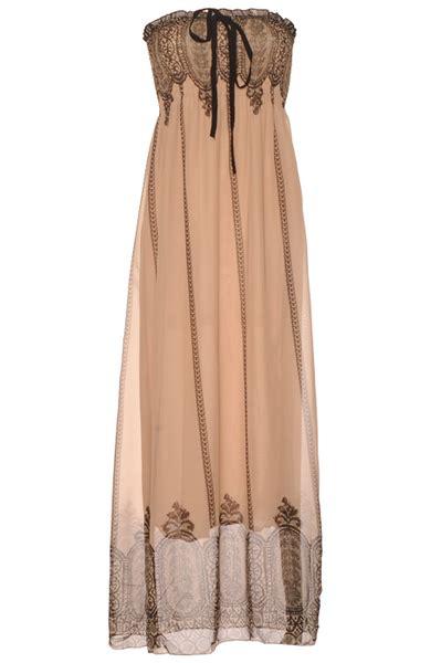 vetement cuisine pas cher longue robe bustier taupe avec motif vêtement femme pas cher 033