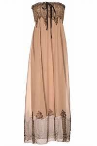 longue robe bustier taupe avec motif vetement femme pas With robe longue pas cher femme
