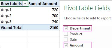 creating  excel consolidated pivot table  multiple