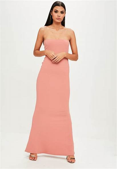 Pink Sleeveless Maxi Crepe Missguided Lyst Dresslover