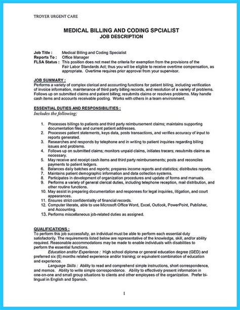 billing specialist resume description some are trying to get the billing specialist if you re also interested in this