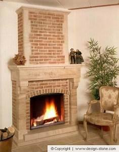 Cheminée En Brique : cheminee pierre classique decorative cognaux belgique design stone ~ Farleysfitness.com Idées de Décoration