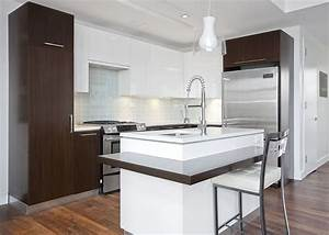 36 stylish small modern kitchens ideas for cabinets With white and brown kitchen designs