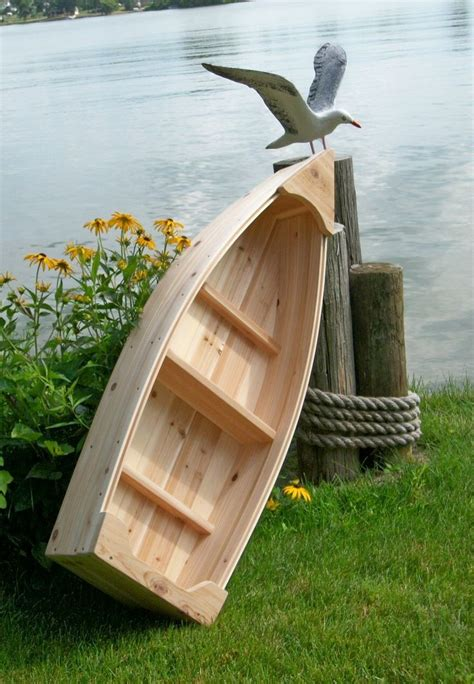 nautical wooden outdoor landscape all cedar boat garden