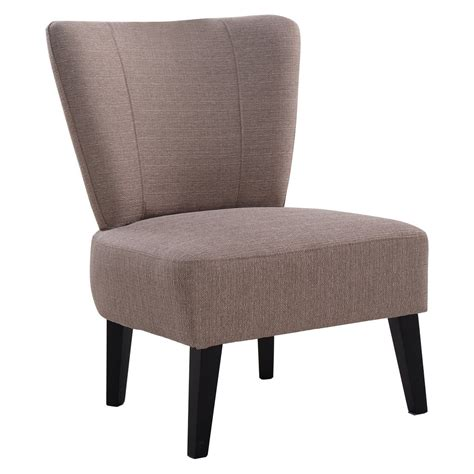 armless accent chair upholstered seat dining chair living