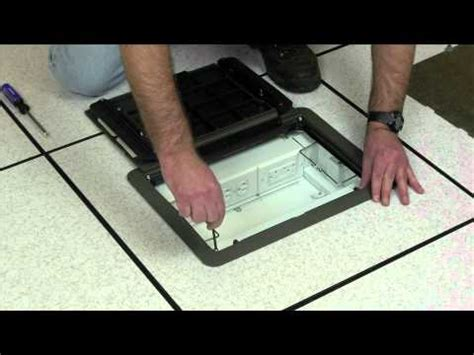 wiremold how to install the evolution floor box