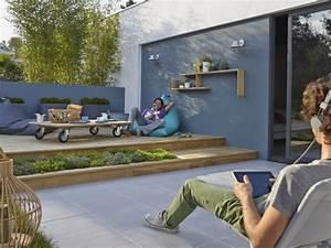 Amenagement Terrasse De Toit : l 39 am nagement de terrasse avec un sol du bois ~ Premium-room.com Idées de Décoration