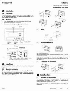 Honeywell Cm 507 A User Manual