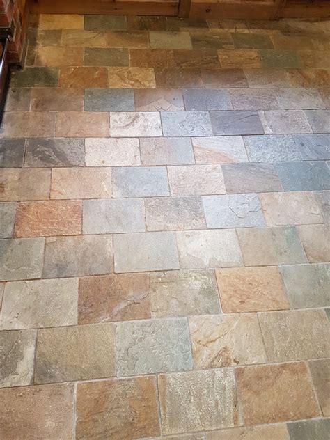 refreshing dull slate kitchen floor tiles  ticknall