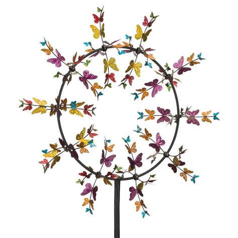 regal 32 in vortex kinetic stake butterflies 11755 the home depot