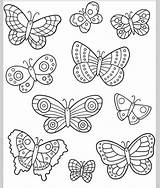 Coloring Easy Draw Butterfly Template Sheets Printable Outline Colouring Pattern Patterns Adult Wings Embroidery Visit sketch template