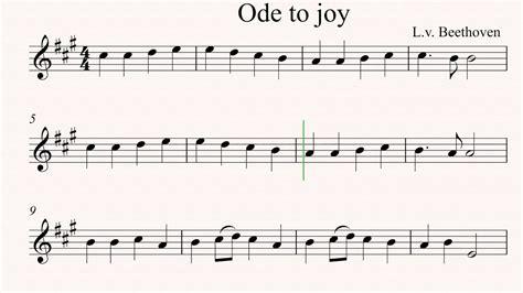 ode to joy violin sheet music youtube