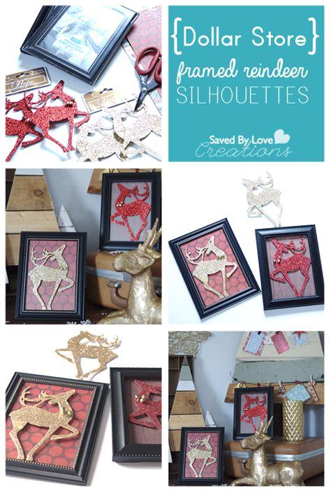 dollar store framed reindeer silhouettes