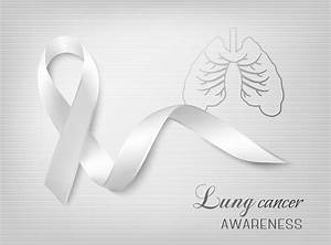 Image Gallery lung cancer ribbon logo