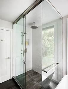 meubles bois massif assortis au parquet et salles de bains With porte de douche coulissante avec meuble de salle de bain à suspendre
