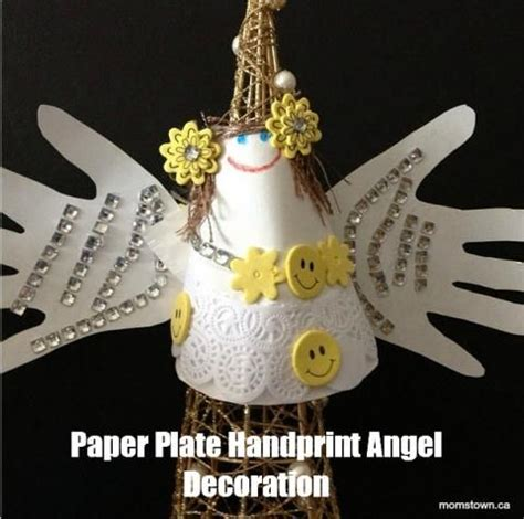 Handprint And Paper Plate Angel Craft For Christmas Kids
