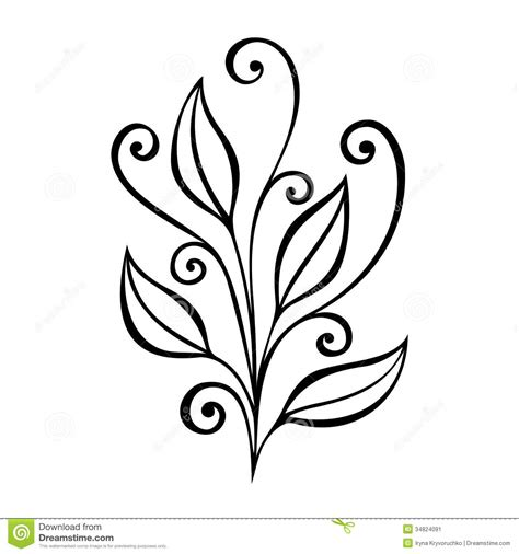 decorative flower and leaf designs decorative leaf with ornament stock image image 34824091