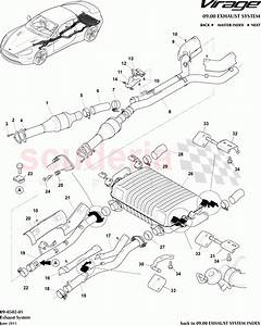 Aston Martin Virage Exhaust System Parts