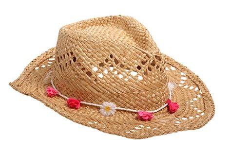 Straw Hat With Flower Garland Festival Fashion Hippie