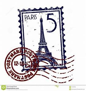 Paris Stamp Postmark Style Grunge Stock Vector