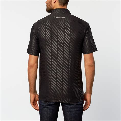 nike embossed performance polo black  mercedes