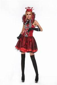 Halloween Party Women Sexy Mini Dress Casino Poker Queenu0026#39;S Playing Card Fancy Dress Wear Outfit ...
