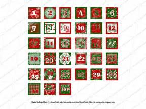 Printable Christmas Numbers 1 25