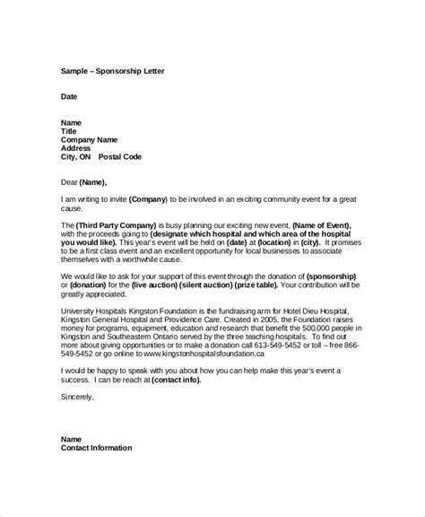 sponsorship template 7 sle event sponsorship letters pdf sle templates