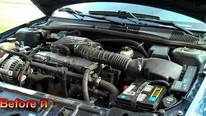 Before  U0026 After Short Ram Air Intake 2002 Chevy Cavalier