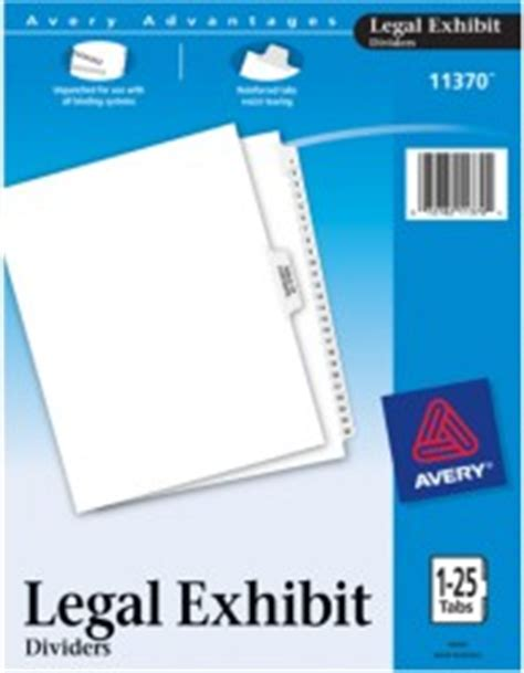 avery 25 tab table of contents template legal dividers premium collated sets 1 25 table of