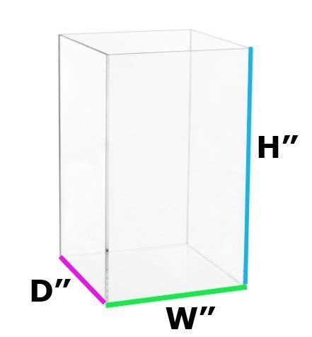 clear acrylic plexiglass display boxes and cases