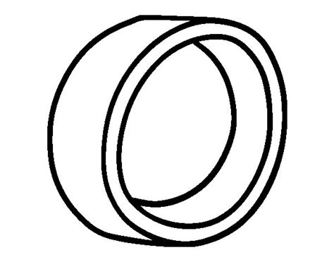 basic wedding ring coloring page coloringcrew com