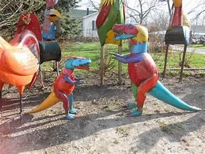 "29"" Recycled Metal Dinosaur"