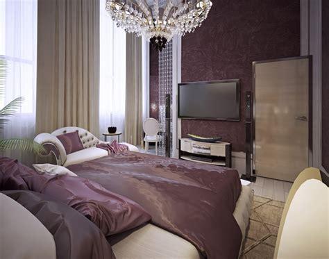 attractive purple bedroom design ideas