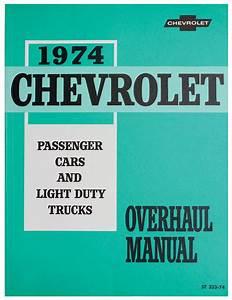 Manual  Chassis Overhaul  1974 Malibu  Monte Carlo  El