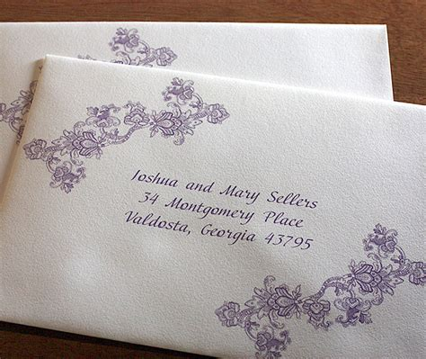 Custom Wedding Invitation Envelope Addressing