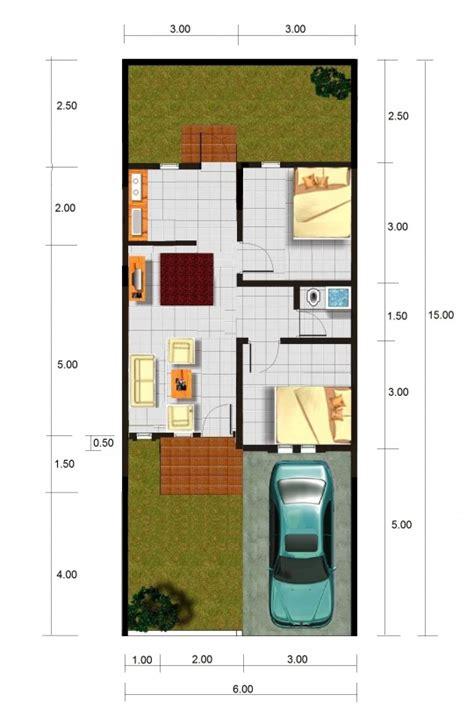 gambar denah rumah type   ukurannya freewaremini